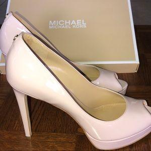 d6f95ea900a MICHAEL Michael Kors Shoes - Michael Kors ERIKA Platform Patent Soft Pink  Pump
